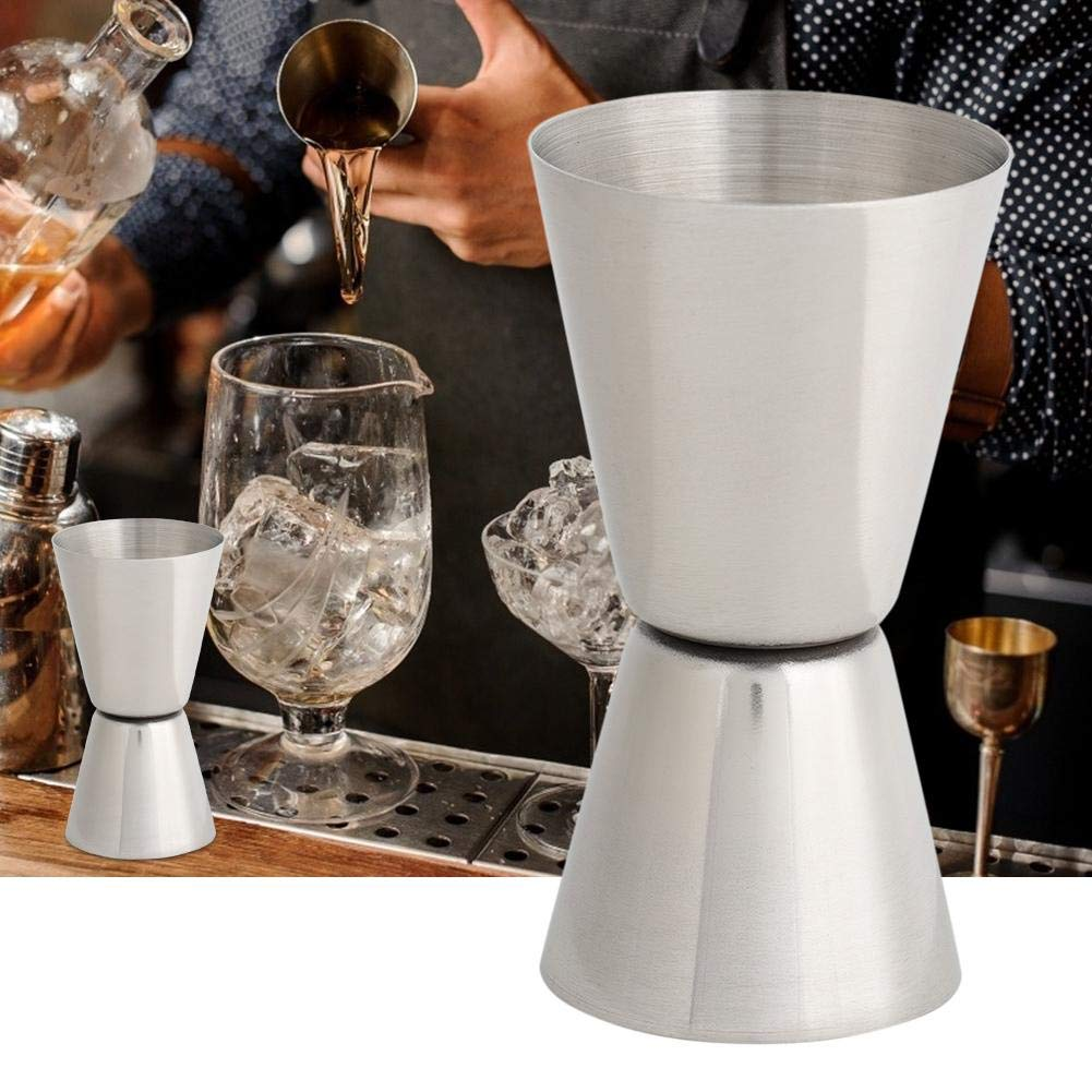WYANG 20 40ml en Acier Inoxydable Cocktail Jigger Double T/ête De Tasse /À Mesurer Onces Alcool Tasse /À Mesurer