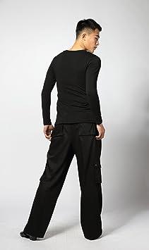 Nuovo Stile SCGGINTTANZ G5003 Latino Moderna Ballo da Danza Professionale la Body in Cotone Cristallo per Uomo