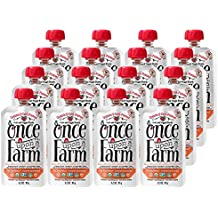 Once Upon a Farm Organic, Cold-Pressed Baby Food, Sun-Shiny Strawberry Patch (Pack of 16)
