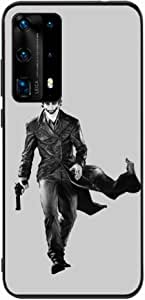 Okteq Back cover Compatible with Huawei P40 Pro - jocker black and grey By Okteq