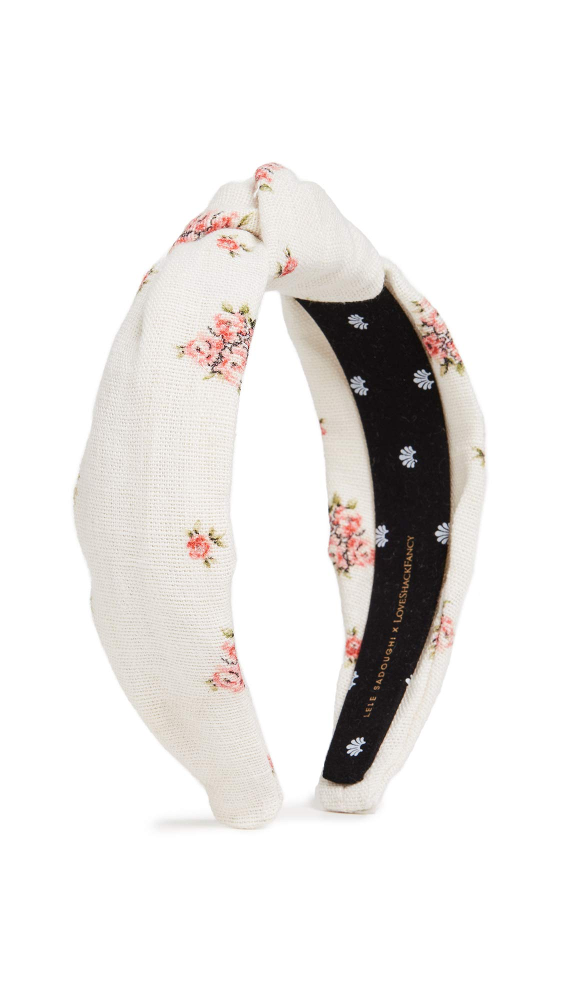 Lele Sadoughi Women's x Loveshackfancy Headband, French Cream, Off White, Floral, One Size