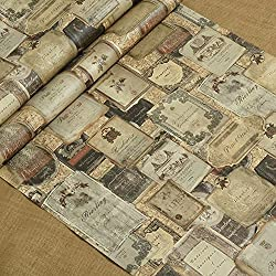 DXG&FX American country wallpaper vintage English icons wallpaper bar wallpaper Living room dining room walls for wallpaper-A
