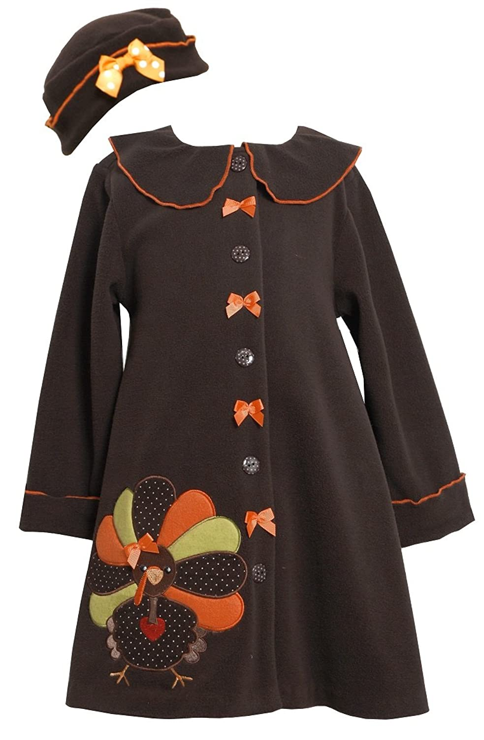 Amazon.com: Bonnie Jean Girls Bonaz Fleece Fall Winter Coat & Hat