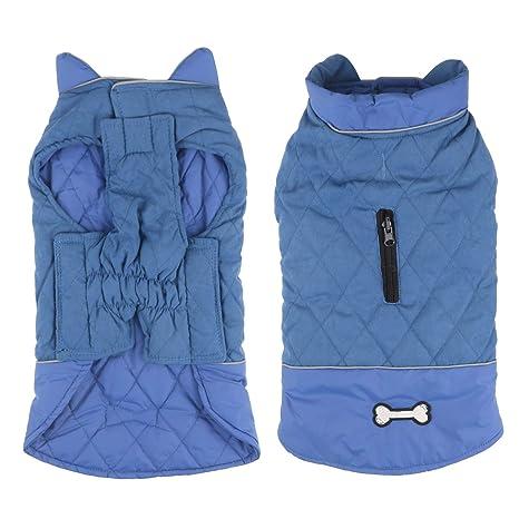 Idepet Chaqueta impermeable para perros Chaqueta cálida de invierno Chaleco, traje de nieve a prueba de viento Ropa para perros Chaleco para mascotas ...