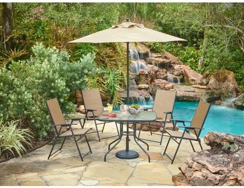 Mosaic Outdoor Folding Patio Dining Furniture Set