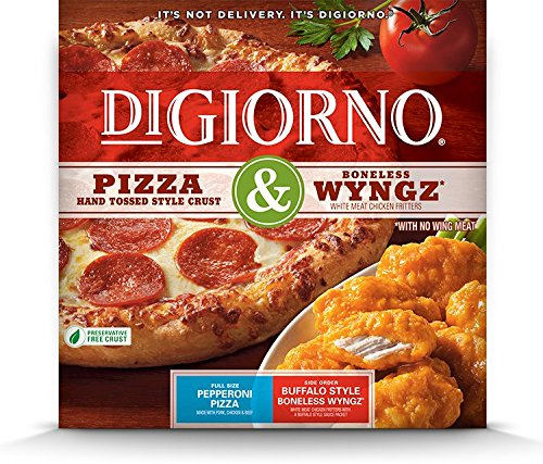 DiGiorno, Pizza & Wyngz, Pepperoni Pizza & Buffalo Style Boneless Wyngz, 31.2 oz. (10 (Boneless Buffalo)