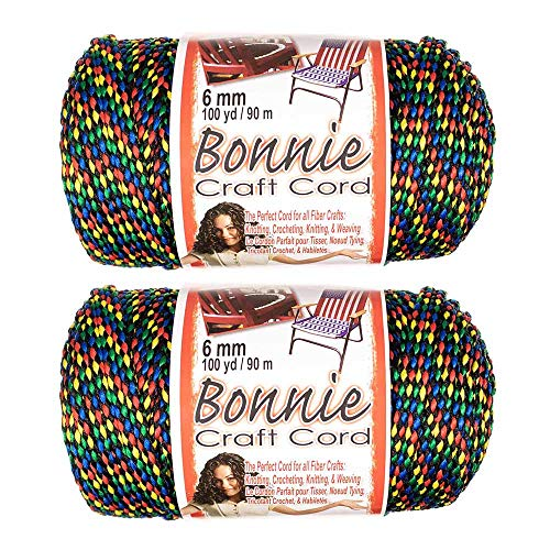 (2 Pack 6mm Bonnie Cord - for a Variety of Crafting and Macramé Projects - 100 Yards of Cord (Tiffany))
