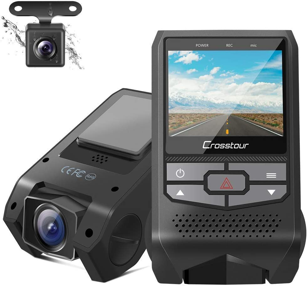 Crosstour Dual Dash Cam Front and Rear