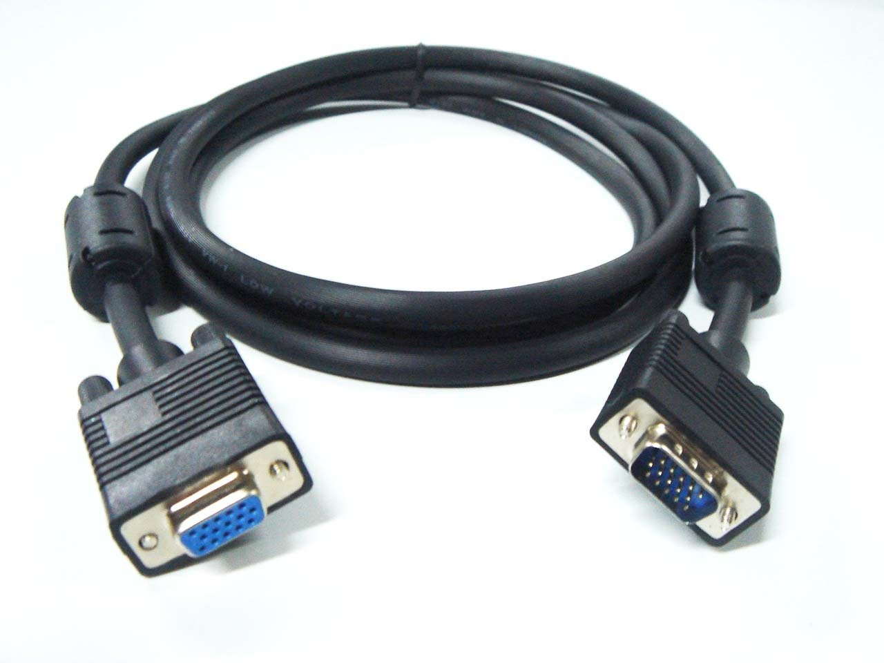 MHP® 50m SVGA Extension Cable Male to Female 15pin HD15M to HD15F Lead CRT TFT Monitor Cable Black