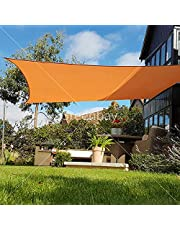 Greenbay Sun Shade Sail Outdoor Garden Patio Party Sunscreen Awning Canopy 98% UV Block With Free Rope