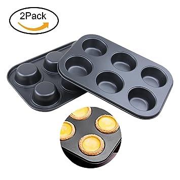 Molde para magdalenas 6, bandeja de horno para mini cupcakes, molde molde (Forma