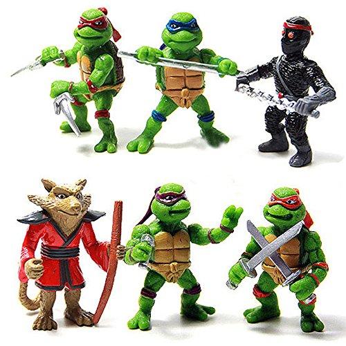 YoYoBoo 2016 6Pcs/lot Set Classic Collection Toys for Kids Teenage New Mutant Ninja Turtles TMNT Action Figures Toy