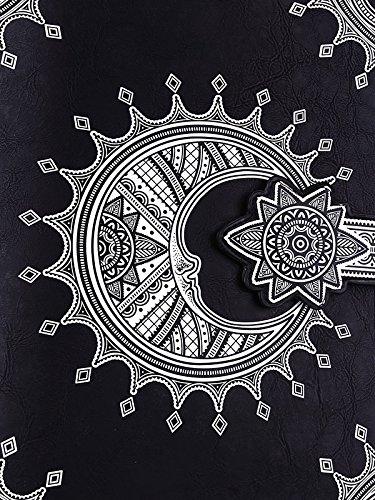 rock Sac noir lune gothique henné imitation livre à cuir main tIzr4z