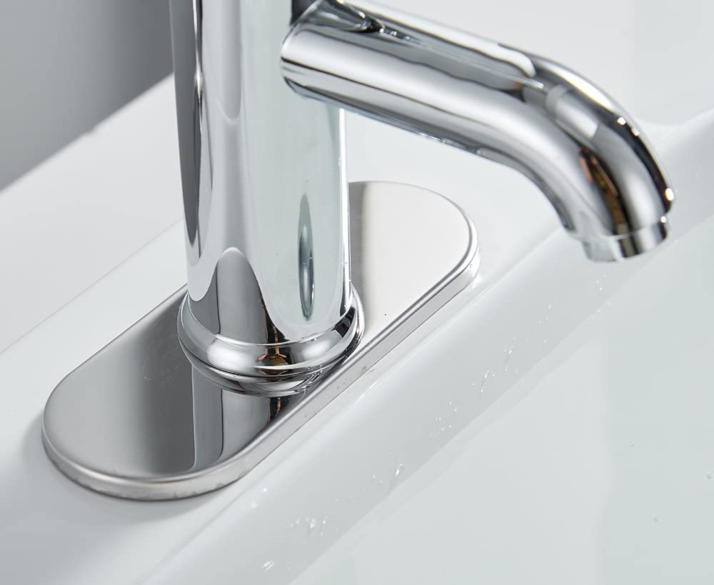 Greenspring Chrome Bathroom Faucet Sink Single Handle Lavatory Vanity Basin Mixer Tap One Hole Supply Line Long Spout Lead-Free - -