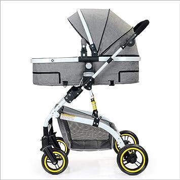 QZX Cochecito Ligero para Silla de Paseo para niños con Carrito de Viaje 2 en 1