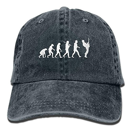 NDJHEH Gorras béisbol Men's Or Women's Guitar Player Evolution Funny Cotton Denim Baseball Hat Adjustable Street Rapper Hat