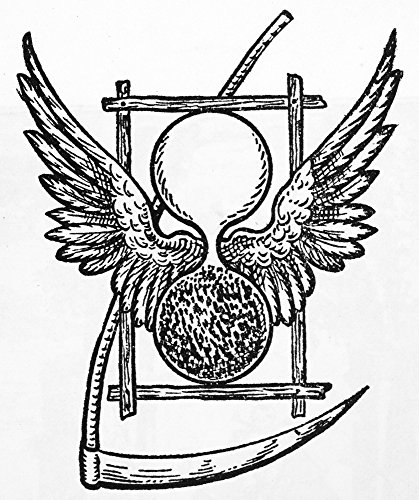 Death 17Th Century Nthe Winged Hourglass And Scythe Which Symbolize The Flight Of Time And The Certainty Of Death Woodcut 17Th Century Poster Print by (18 x 24) -