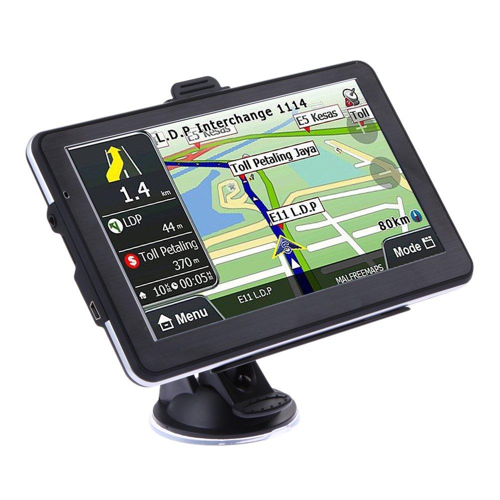 LiChiLan GPS Navegador Dispositivo, 2016 7 Pulgadas HD Coche camión GPS Navegador 800 MHz América del Norte: Amazon.es: Deportes y aire libre