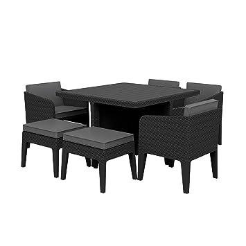 Mirjan24 Gartenmöbel Columbia 7 Sitzgruppe Set 4x Sessel 2x