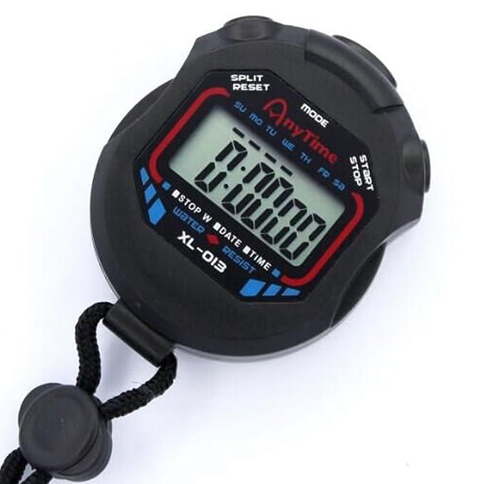 Nider Cronógrafo Digital multifunción con cronómetro (Incluye ...