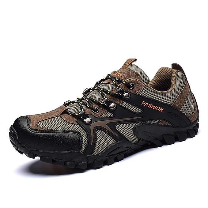 FHTD Zapatos para caminar de los hombres Zapatos ligeros para caminar Zapatos de seguridad para el trabajo: Amazon.es: Ropa y accesorios