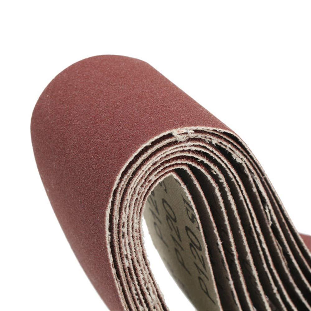 SONSAN Lot de 10 bandes abrasives 60//120//150//240 Grain 40 mm x 680 mm pour machine /à meuler