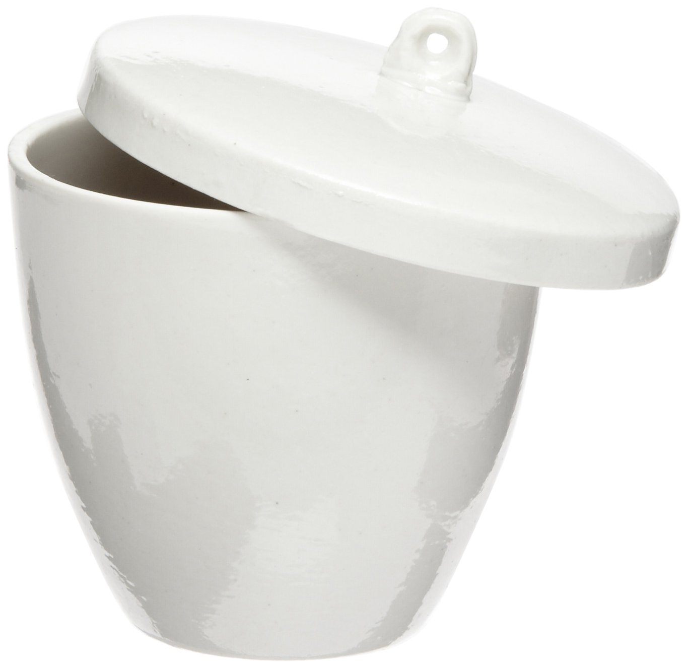 American Educational High Form Porcelain Crucible with Lid, 100mL Capacity (Bundle of 10)