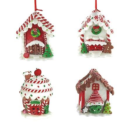 Amazon Com Homeford Hanging Led Gingerbread House Christmas