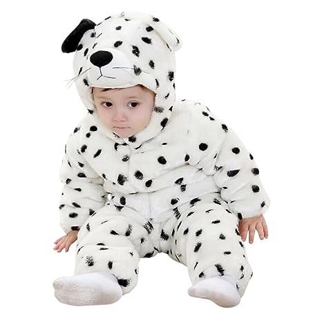 8fe46fc2e7ee Katara 1778 Costume Dalmata Neonati Bambini Tuta Kigurumi Animale Pigiama  Intero con Cappuccio Bambino 12-