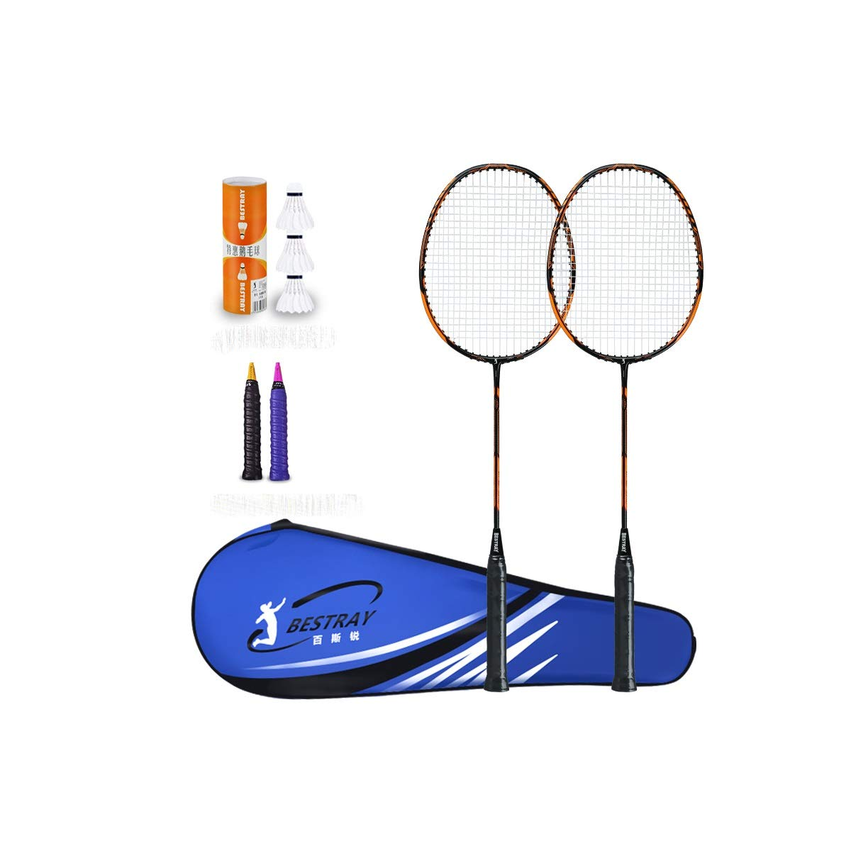 A2 Shengshihuizhong Badminton Racket, Single and Double Shot, Beginner Family Ultra Light, Fitness Amateur Primary Carbon 2, A Variety of colors ejercicio,