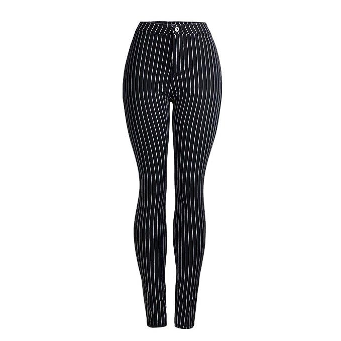 2019 Jeans New Spring Striped Pantaloni Neri da Donna