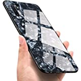 Luhuanx Samsung Galaxy Note 10 Plus Case,Note 10+ Plus Case,Tempered Glass Pattern Back+TPU Frame Hybrid Shell Slim Case Galaxy Note10 Plus Case(2019) Anti-Drop Conch Black07