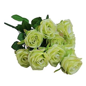 Amazon.com: Meijiu - 10 cabezales grandes de rosas ...