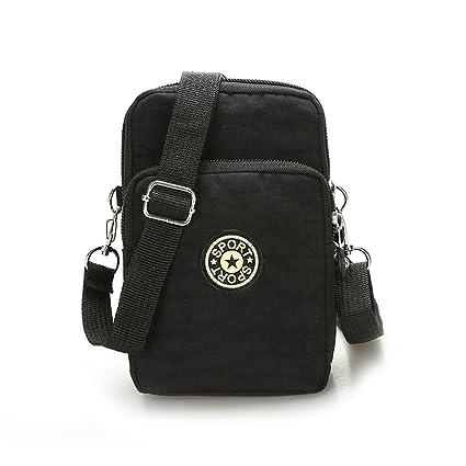 bfd751bd55e5 VERIYA Mini Multifunctional 3 Layers Phone Pouch Handbag Crossbody Shoulder  Bag Armband for iPhone 7 6/6S Plus/5S/5C/Samsung S8 S7 S6 Edge+
