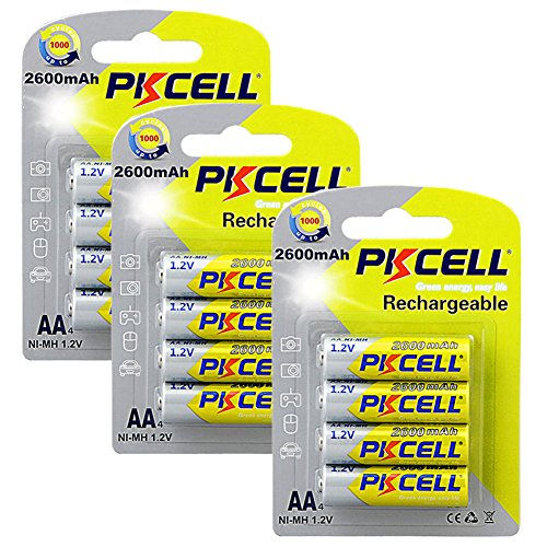 12 Pack AA 2600mAh High Capacity 1.2V NI-MH Rechargeable Battery