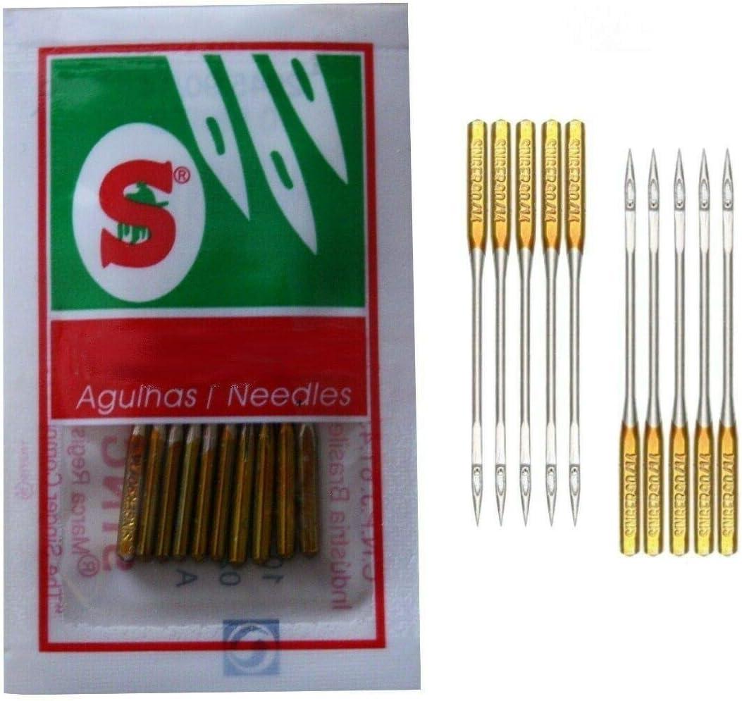 Singer System 2045 - Agujas para máquina de coser (grosor 90/14, para tejidos de punto y jersey)