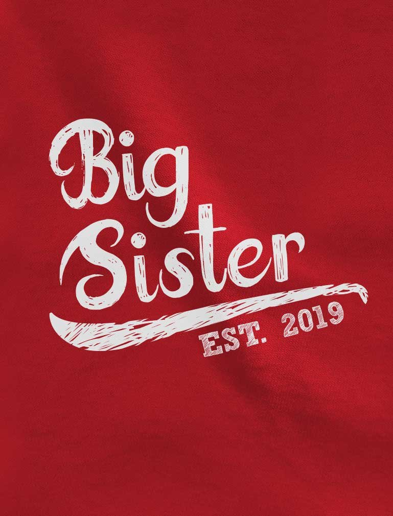 Tstars – Big Sister Est 2019 – Sibling Gift Idea Toddler Jersey T-Shirt