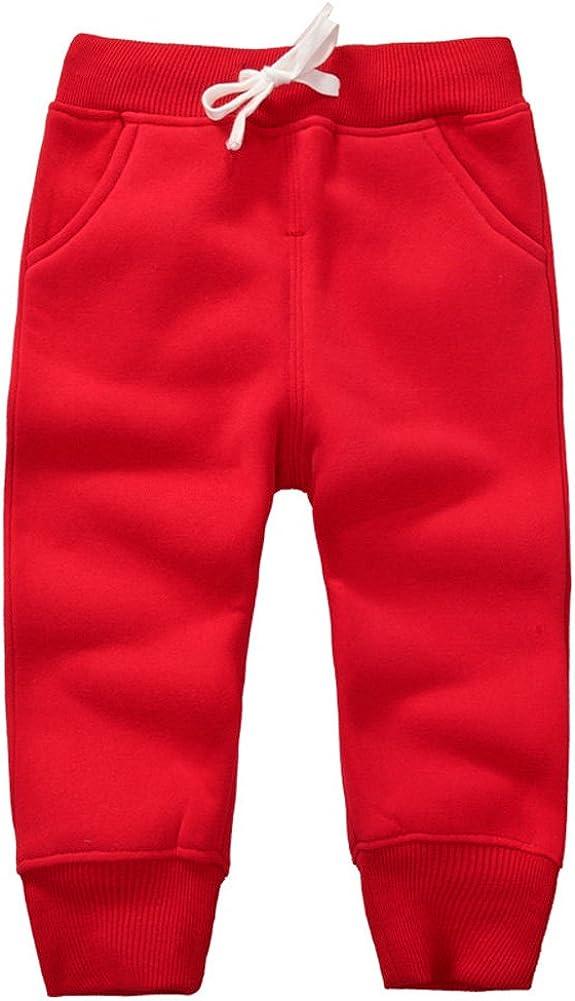 Casa Unisex Kids Trousers Boys Girls School Tracksuit Elastic Waist Bottom Baby Cotton Long Pants Suitable for 1-5 Years