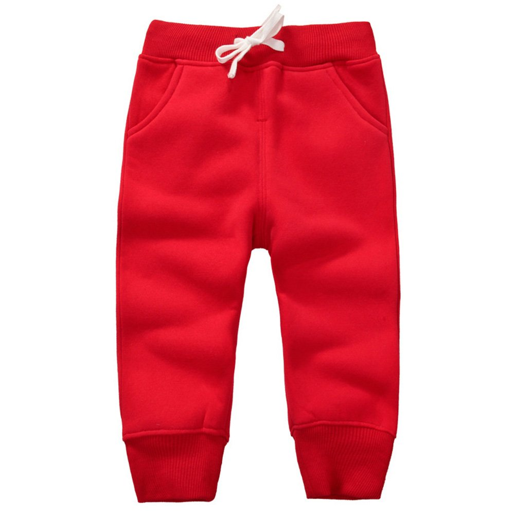 JZLPIN Unisex Baby Pants Kids Cotton Trousers Elastic Waist Winter Sweatpants for Boys Girls