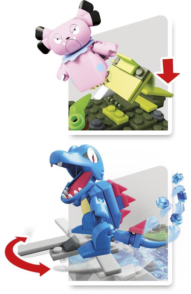 Mega Construx Pokemon Totodile Vs Snubbull Dom Building Set Mattel FVK70
