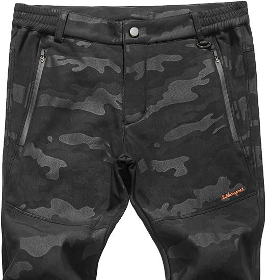 Naudamp Pantalones de Senderismo de Secado r/ápido para Hombre Pantalones de Atletismo Resistentes al Agua para Caminar