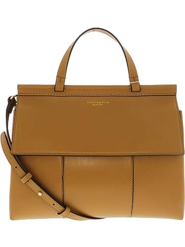 2a837008667 Amazon.com  Tory Burch Block-T Leather Satchel- British Tan  Tory ...