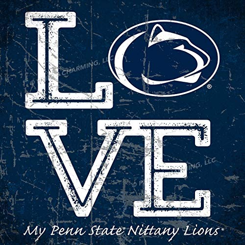 - Prints Charming College Love My Team Logo Square Color Penn State Nittany Lions Unframed Poster 13x13 Inches
