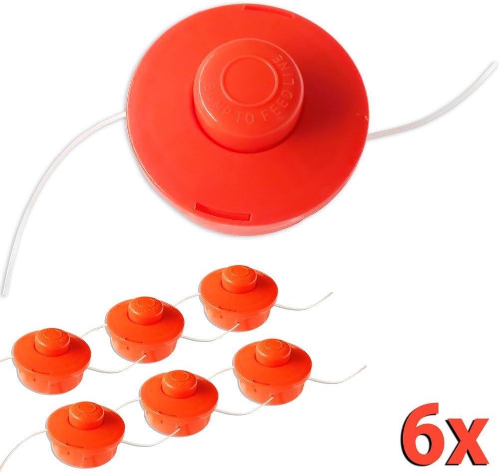 Orange Nemaxx 9X FS1 Bobine avec Jog Automatique Double Cordon de t/ête Coupe de Tonte Accessoires Fil Nylon Rouleau Bobine de Rechange pour d/ébroussailleuse