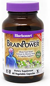 Bluebonnet Nutrition Targeted Choice Brain Power, 60 Vegetable Capsules, 30 Servings