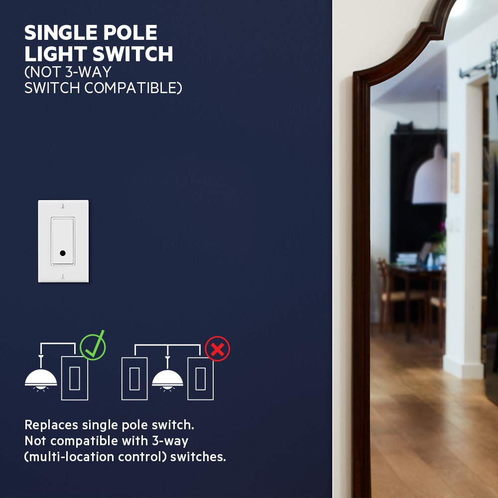 F7C030fc Works with Alexa and the Google Assistant WiFi enabled Wemo Light Switch