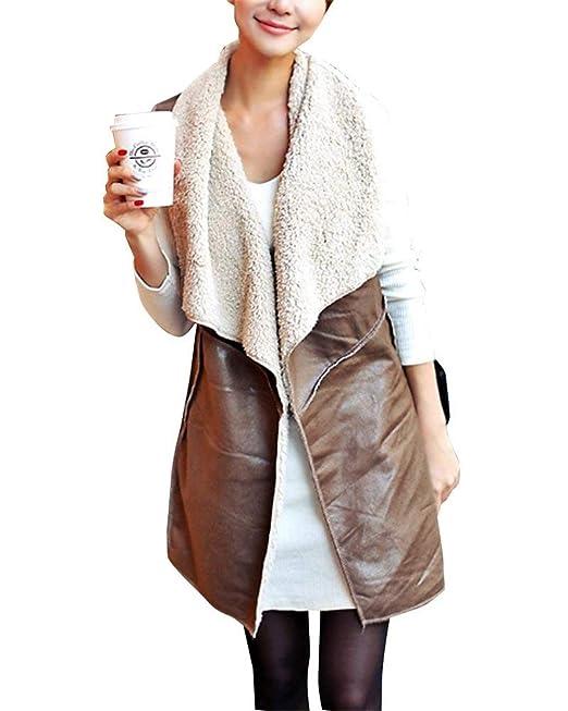 check out b9771 8ee44 Battercake Gilet Donna Primaverile Autunno Vintage Fashion ...