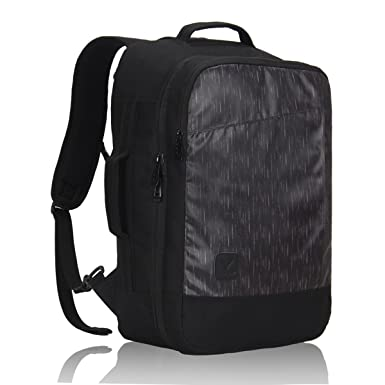 d7fc1a9200dd Hynes Eagle 28L Aurora Convertible 19x12x7.5 Flight Approved Carry On  Travel Backpack Black