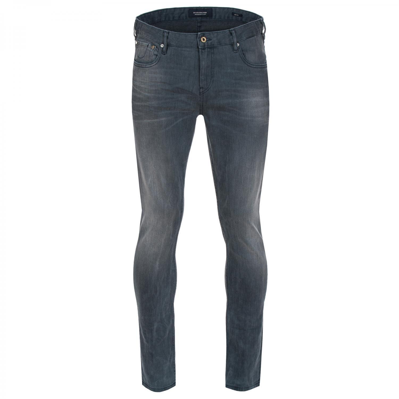 Scotch & Soda Men's Skim Concrete Bleach Skinny Fit Jeans, Grey