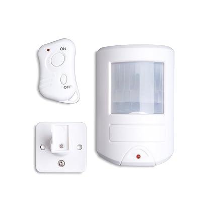 Alarma con sensor de movimiento PIR Defender con llavero RF, sirena de 130 decibeles,